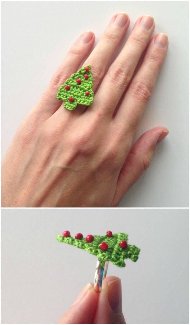 Crochet Christmas Tree Ring - Free Pattern