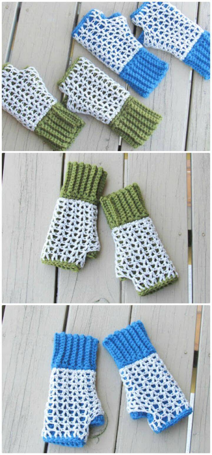 Free Crochet Claire Finger less Mittens Pattern