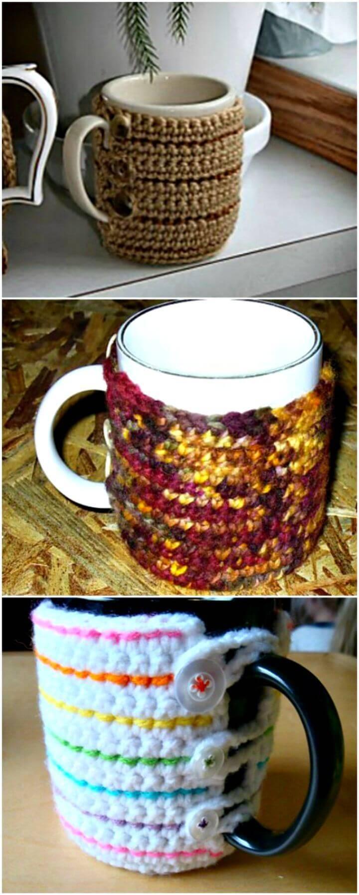 Free Crochet Coffee Mug Cozy - Easy Pattern
