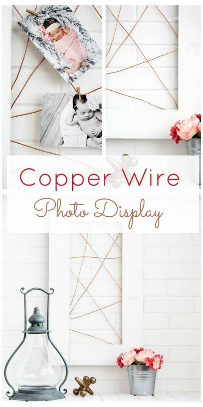 DIY Copper Wire Photo Display