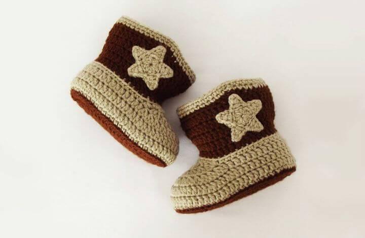 Free Crochet Cowboy Booties Pattern