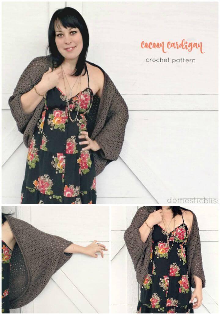 Free Easy Crochet Cozy Cocoon Cardigan Pattern