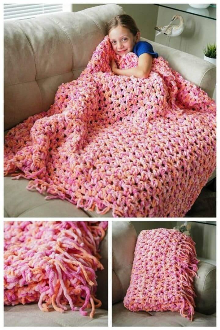 DIY Cozy Crochet Blanket – Free Pattern