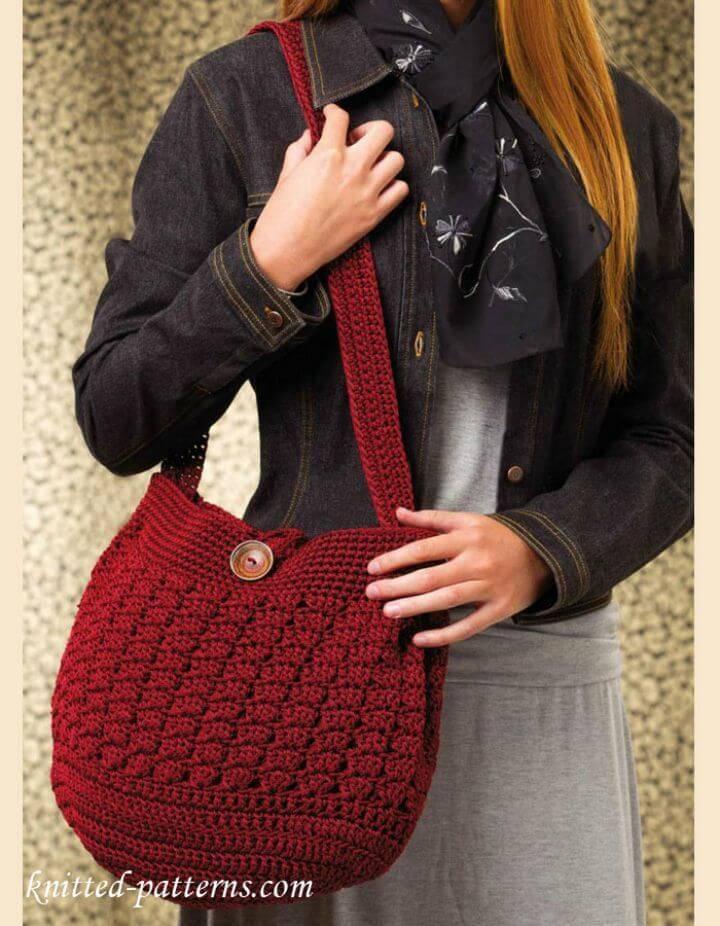 Free Crochet Cozy Messenger Bag Pattern