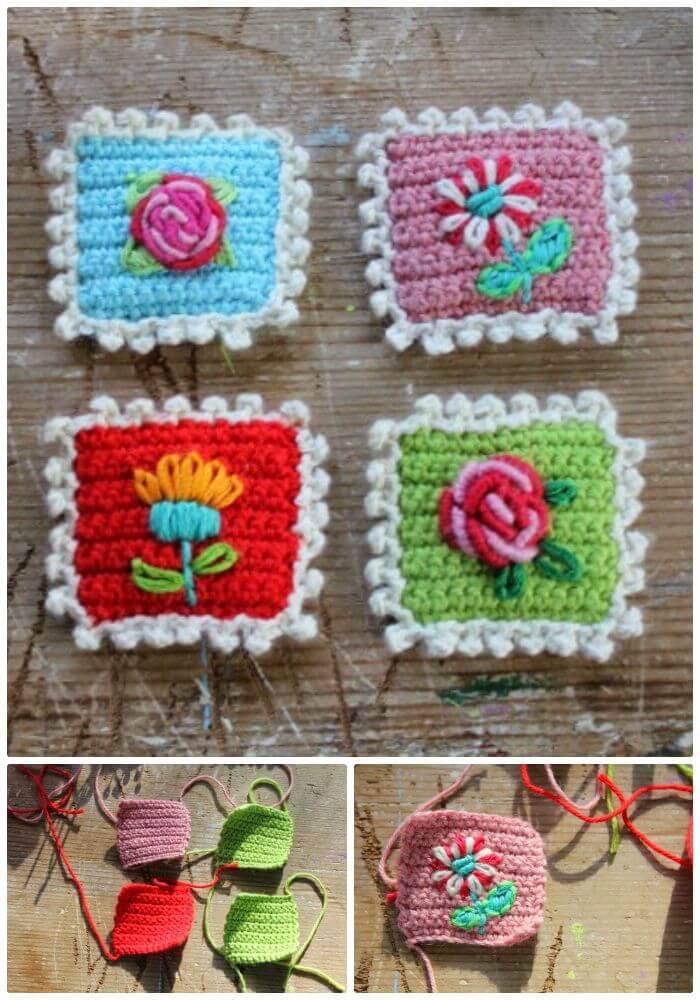 Free Crochet A Postage Stamp Pattern
