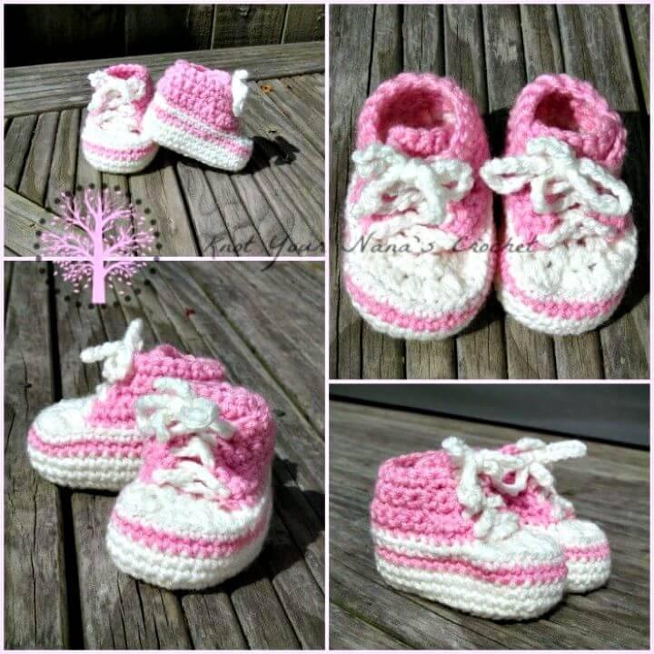 Easy Crochet Converse Newborn High Tops - Free Pattern