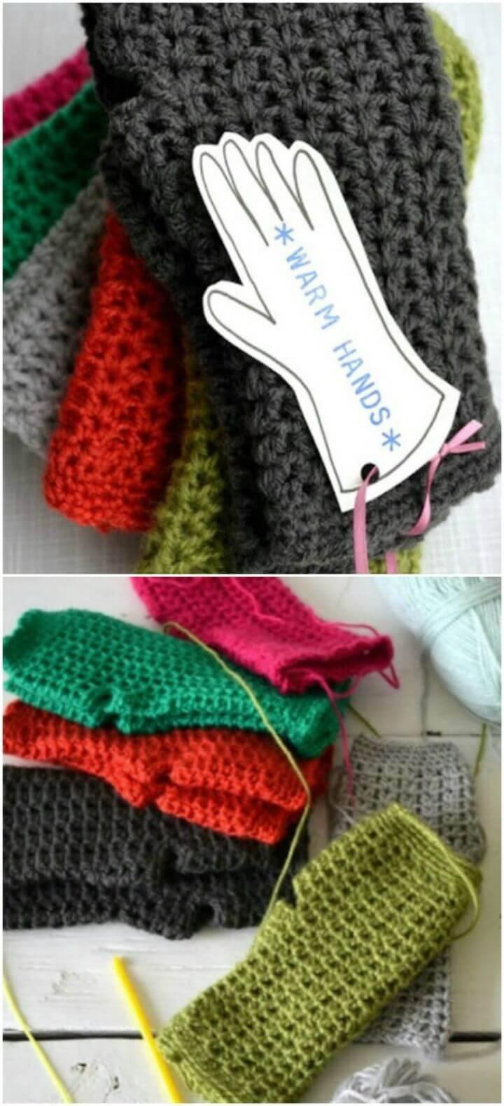 Free Crochet Hand Warmers Pattern
