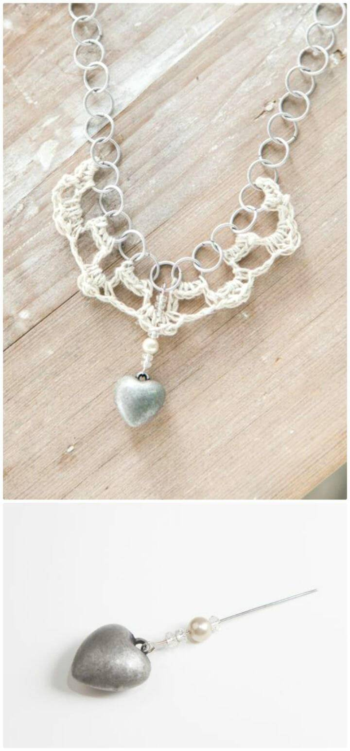 Free Crochet Hemp And Chain Necklace Pattern
