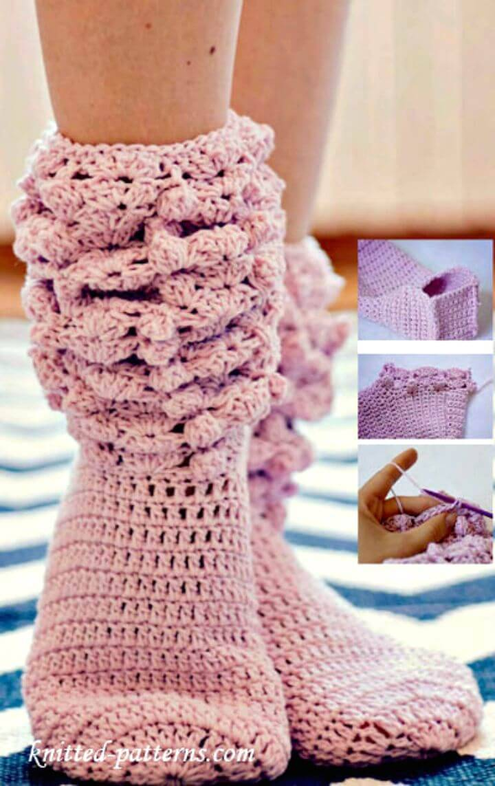 Free Crochet Knee High Socks Pattern