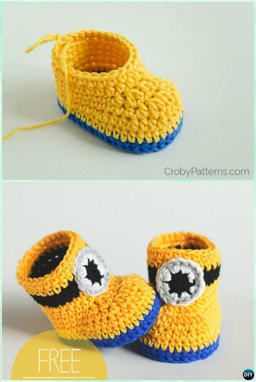 Crochet Baby Booties 55 Free Crochet Patterns For Babies Diy