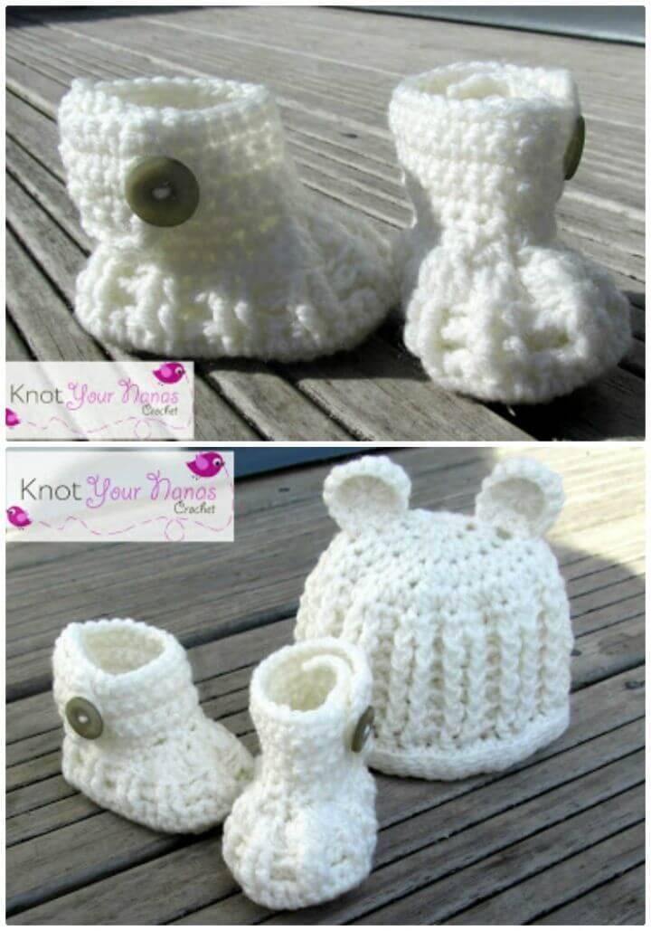 Free Crochet Newborn Booties Pattern