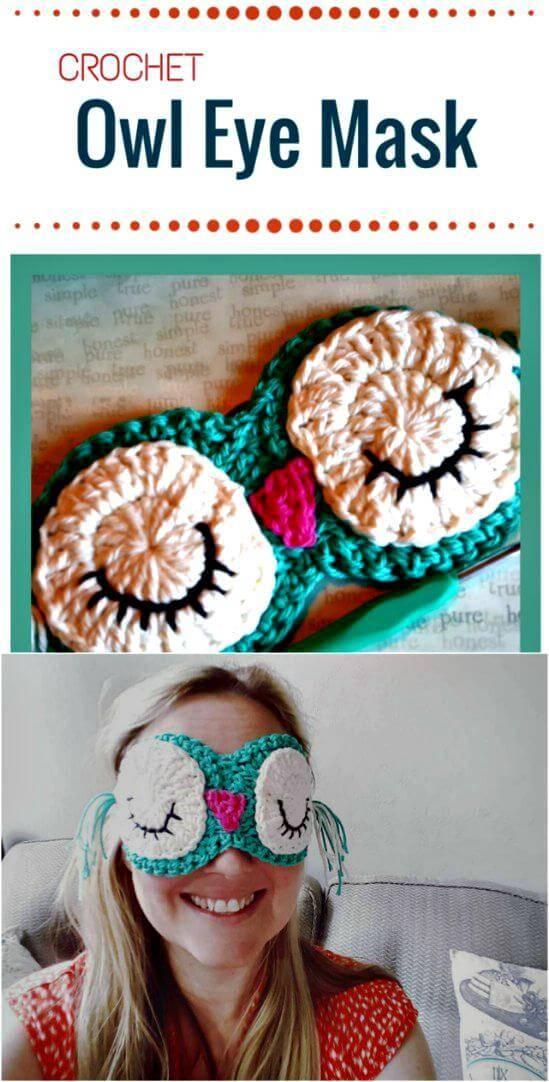 Free Crochet Owl Eye Mask Pattern