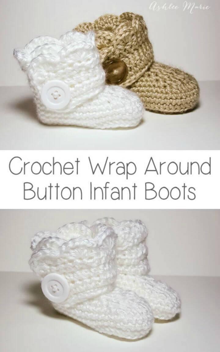 Free Crochet Wrap Button Boots Pattern
