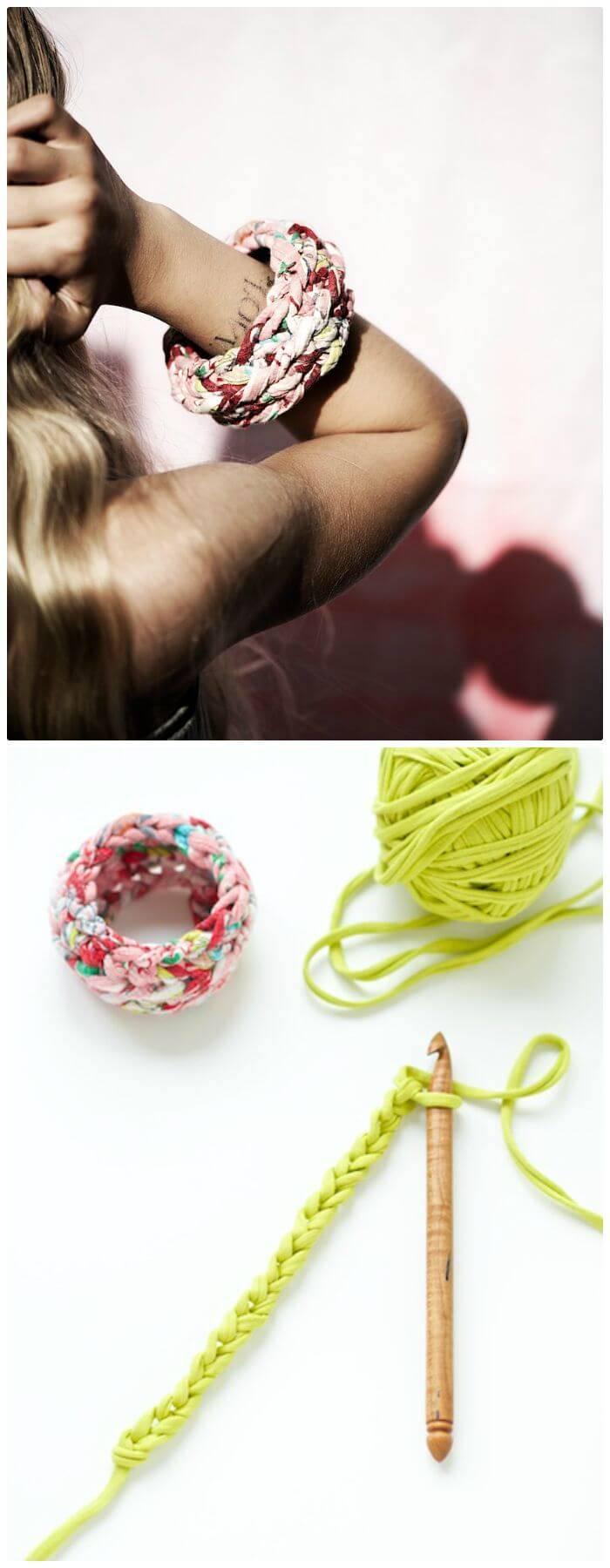 Free Crocheted Bangle Bracelets Pattern