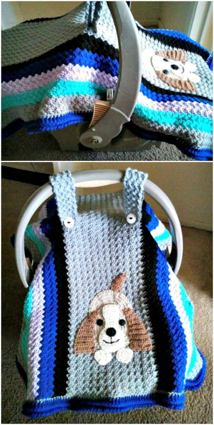 Easy Crocheted Car Seat Cover Pattern