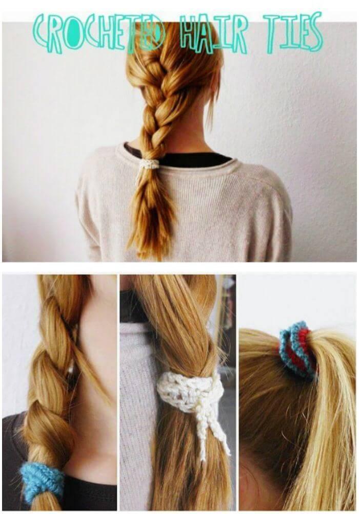 Free Crocheted Hair Ties Pattern