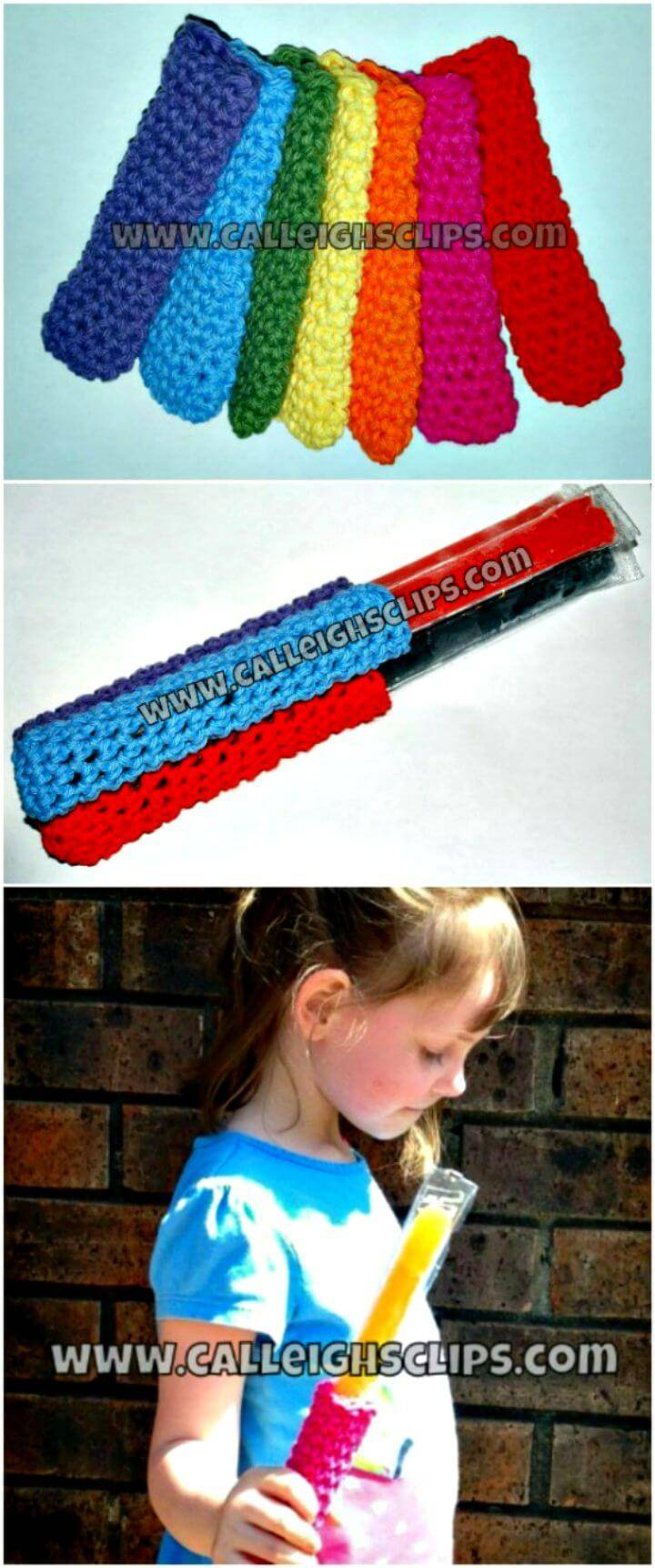 Easy Crocheted Popsicle Snuggy