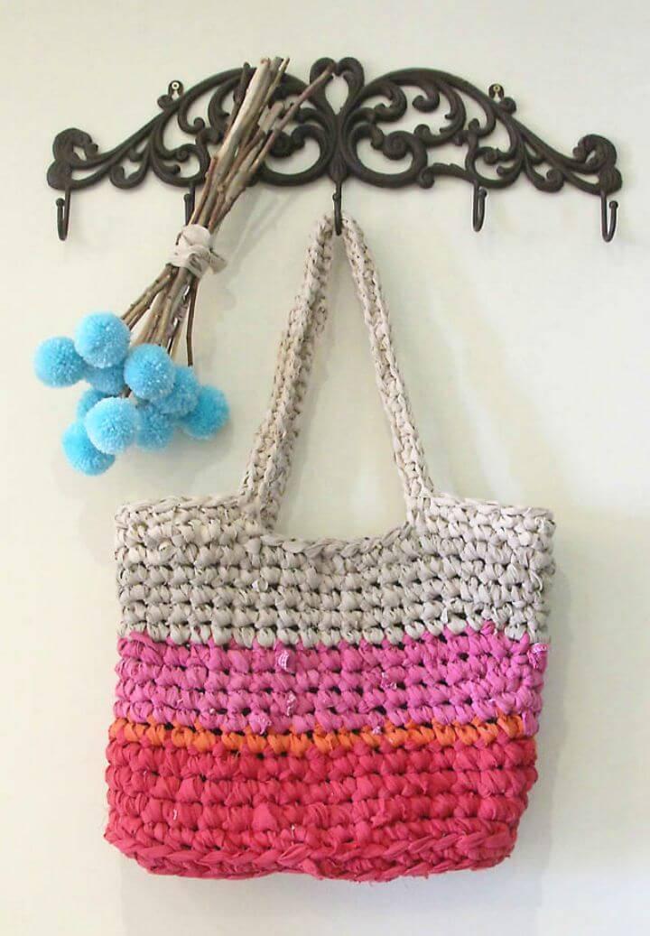 18 Free Crochet Bag Patterns / Crochet Tote Bags - DIY Crafts