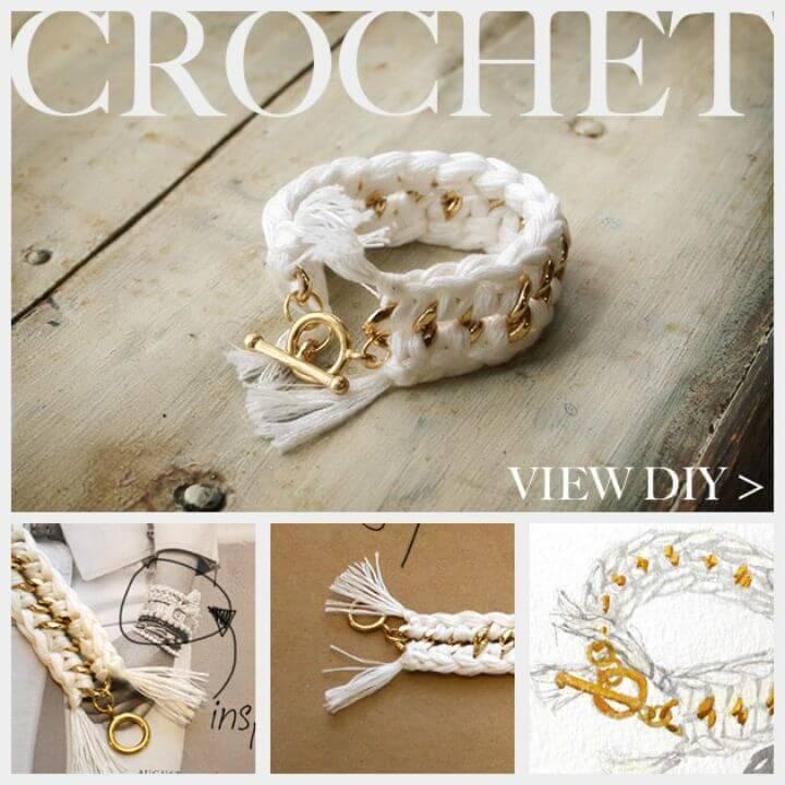 DIY Cute Crochet Bracelet - Free Pattern