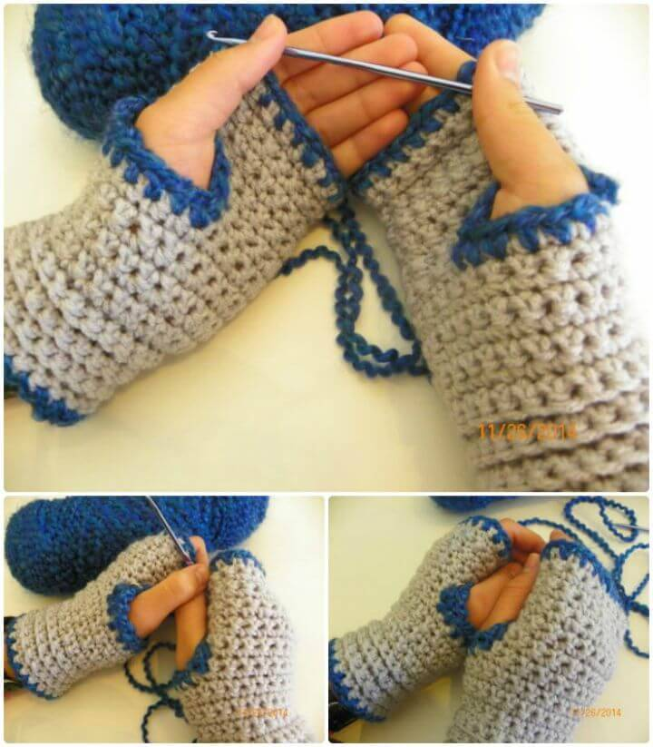 Easy Free Cozy Crochet Fingerless Gloves
