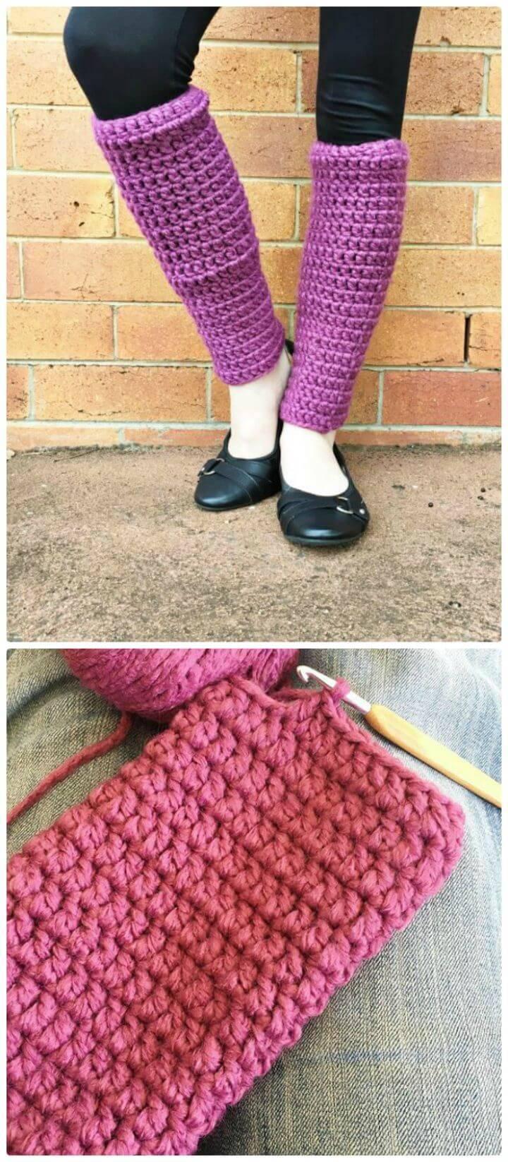 Easy Free Crochet Leg Warmers Pattern