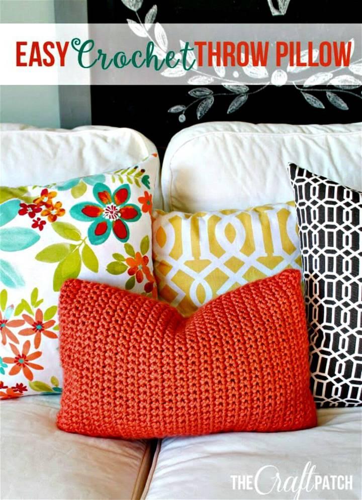 Easy Crochet Throw Pillow