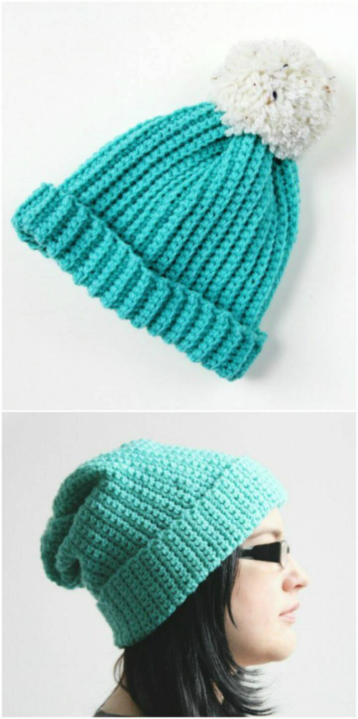 Easy Free Crocheted Hats – Two Ways