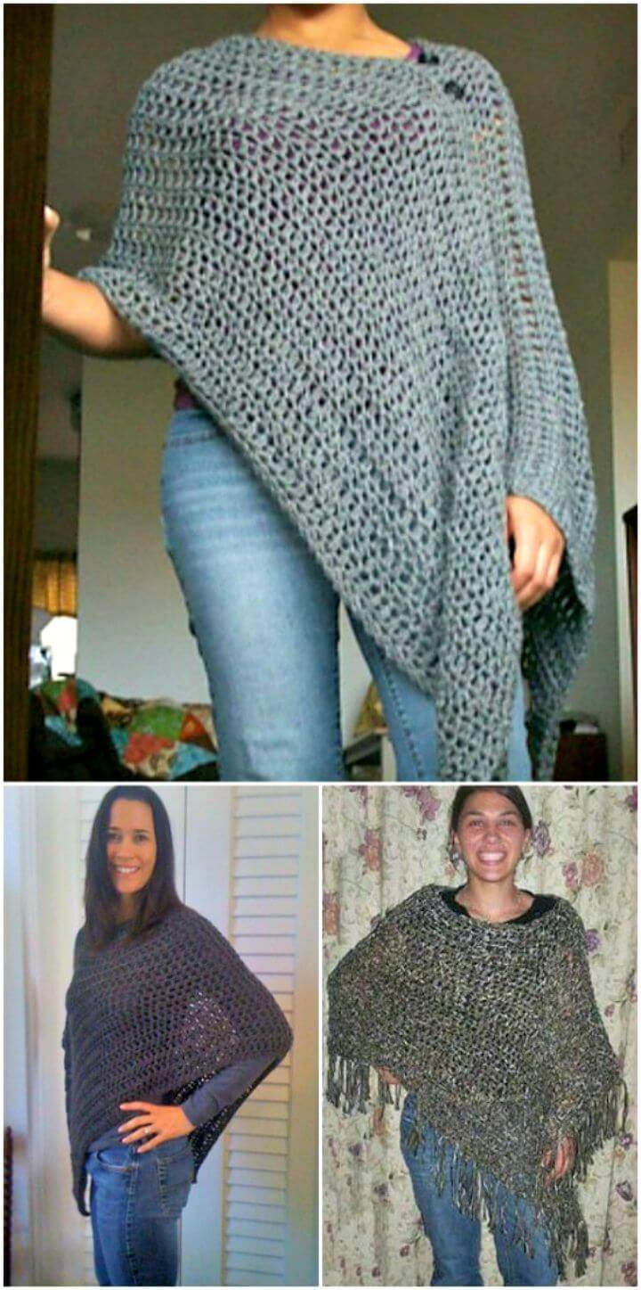 Easy Customizable Poncho - Free Pattern