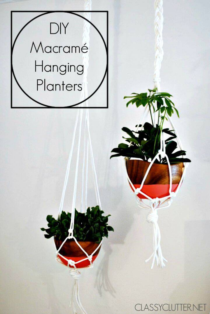 How To Easily Make A Macrame Hanging Planter