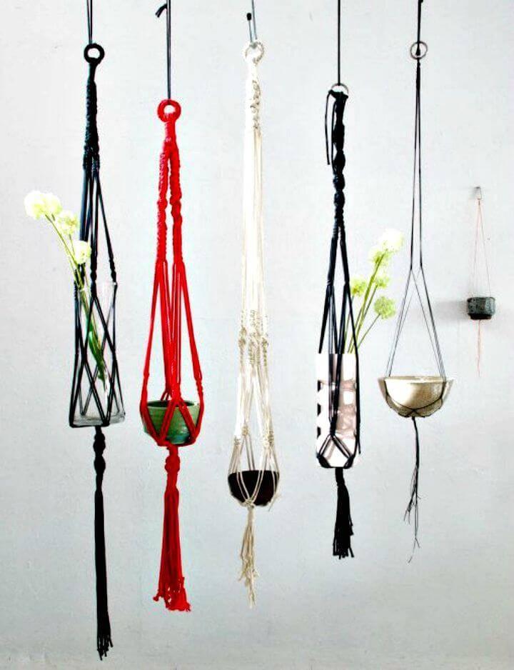 Easy DIY Macrame Hanging Succulent Garden
