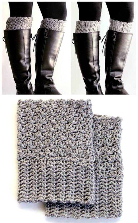 Easy Reversible Crochet Boot Cuffs Pattern