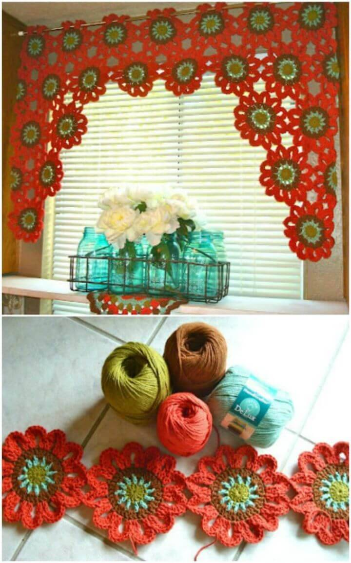 DIY Easy & Simple Crocheted Valance