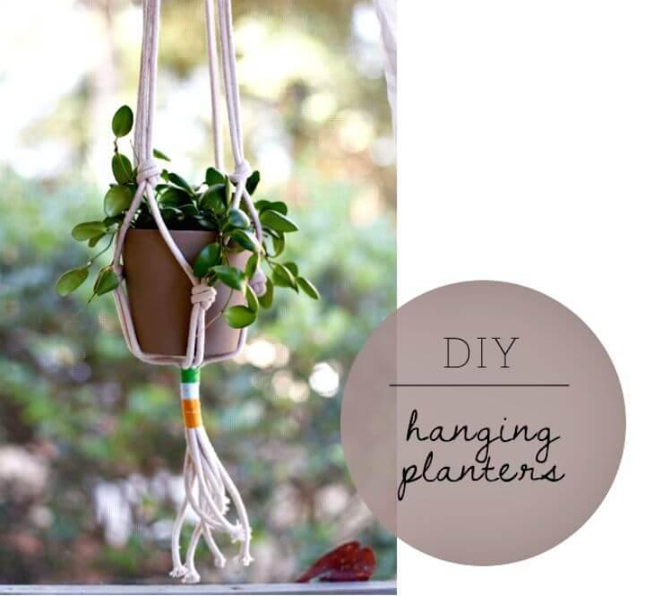 Easy & Simple DIY Hanging Planters