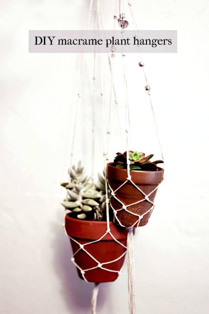 DIY Easy & Simple Macrame Plant Hangers