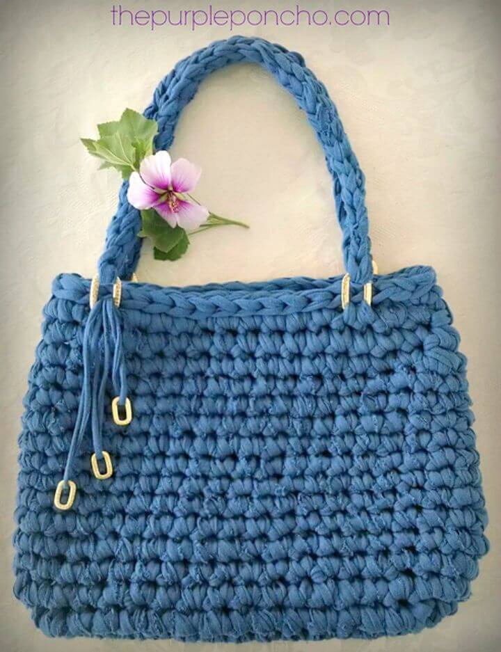 Crochet Fall Sweater Tote - Free Pattern