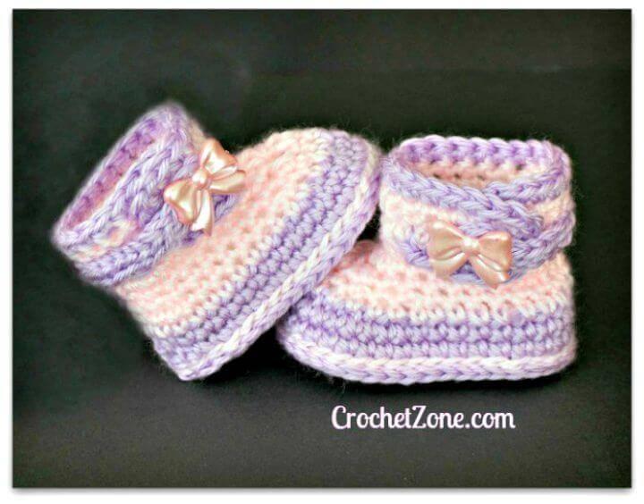 Free Crochet Booties Pattern For Fuzzy