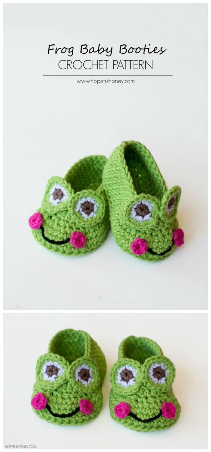 How To Frog Baby Booties Crochet Pattern