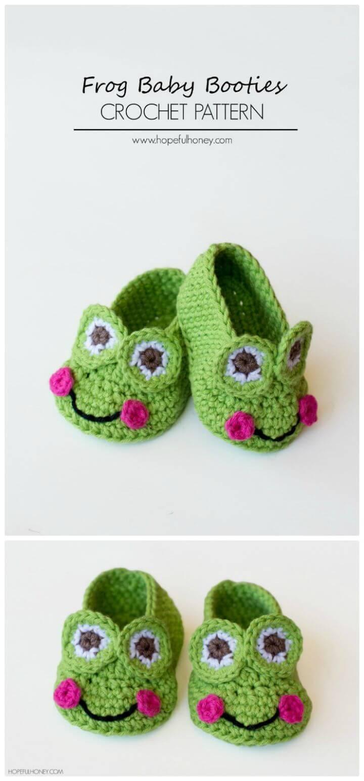 How To Frog Baby Booties Crochet Pattern