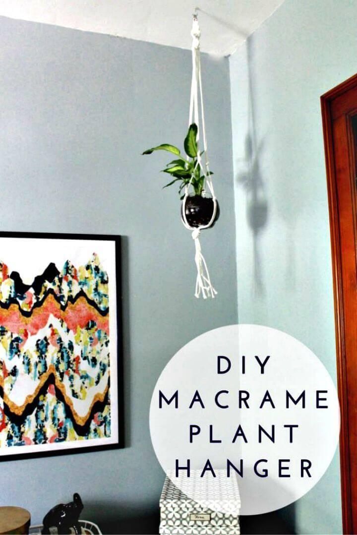 DIY Gorgeous Macrame Plant Hanger