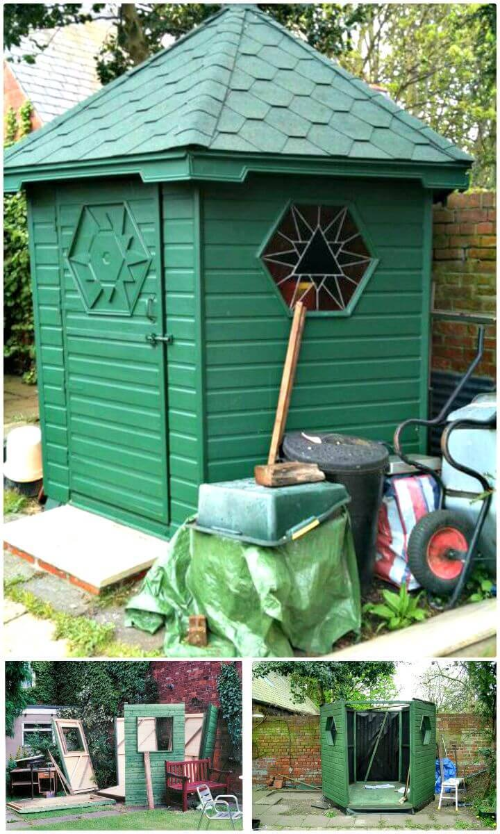 DIY Hexagonal Garden Shed - Free Plan