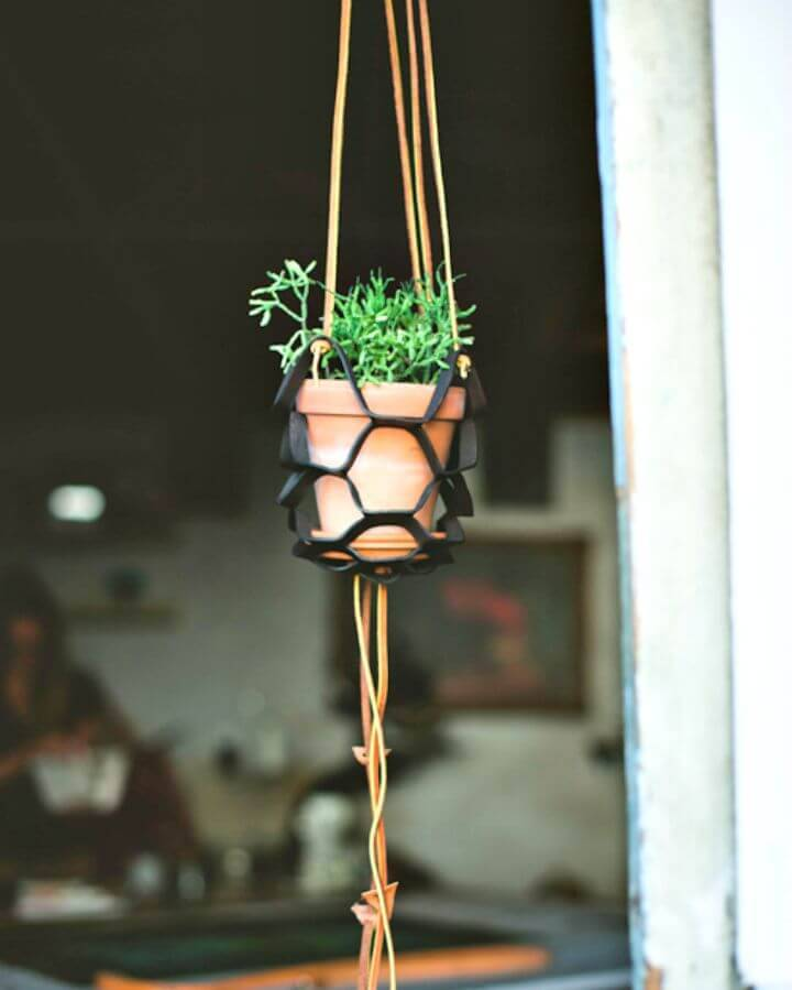DIY Leather Plant Hanger - Free Tutorial