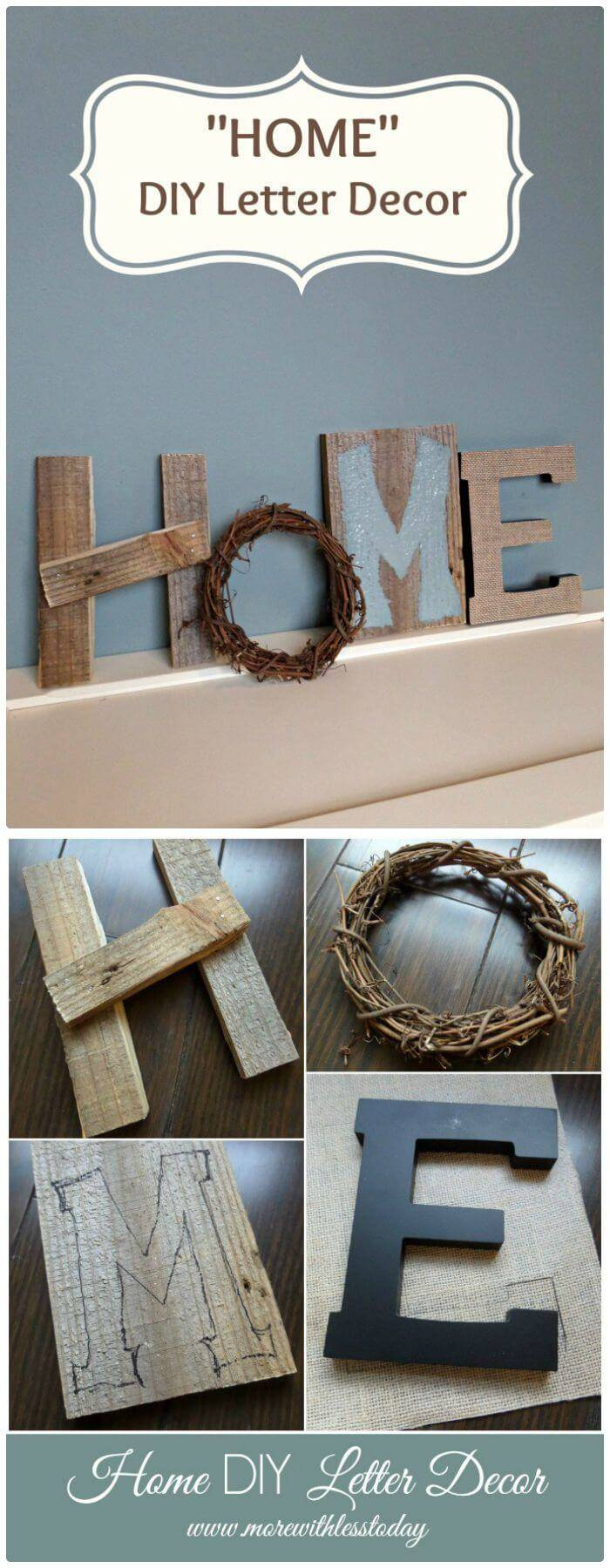 How To DIY Letter Decor - Home Decor Step By Step Instructions