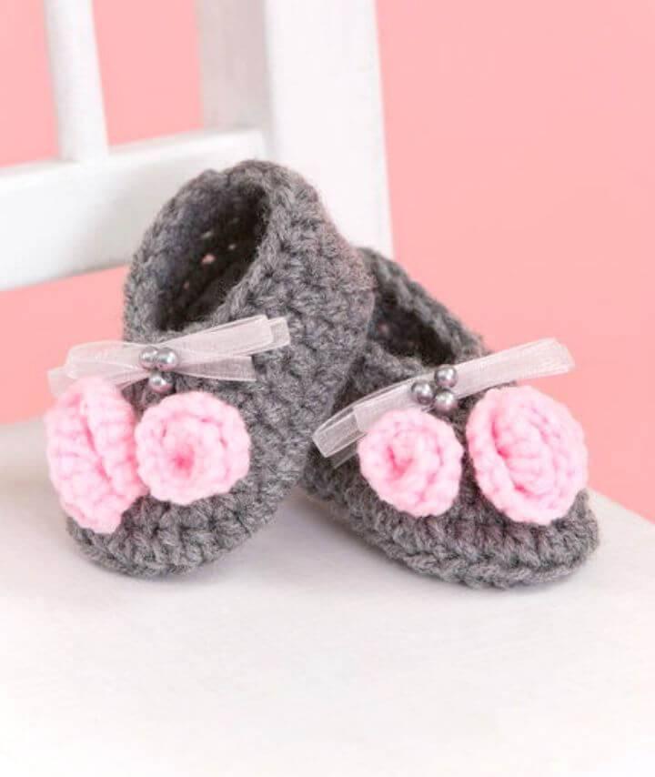Free Crochet Little Miss Booties Pattern