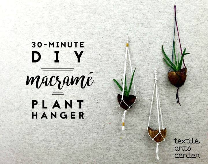 How To Make Macrame Plant Hanger In 30 Minute