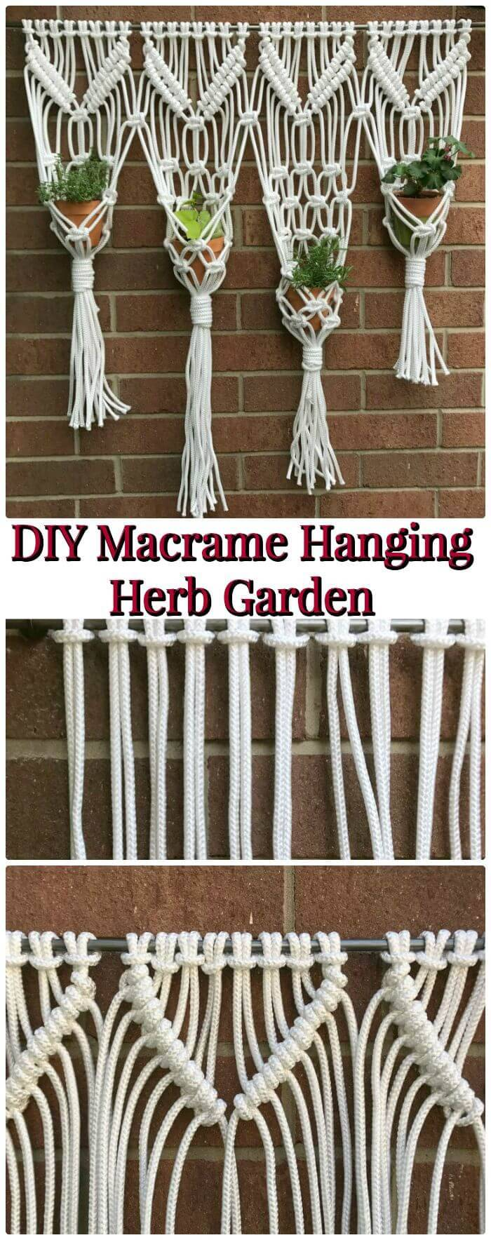 How To Make Macrame Hanging Herb Garden