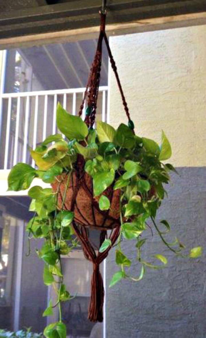 DIY Macrame Plant Hanger Adjustments