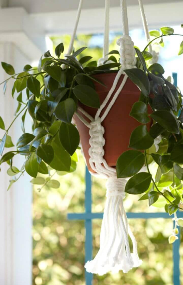 Free Macrame Pot Hangers