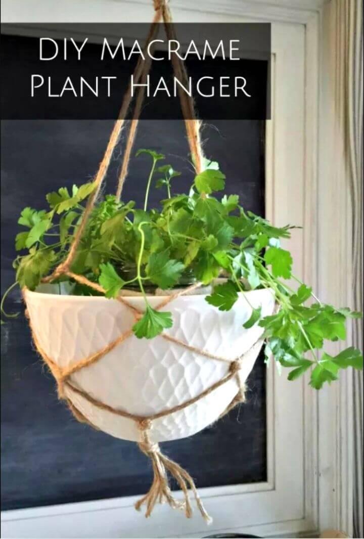 DIY Macrame Plant Hanger With Simple Bowl