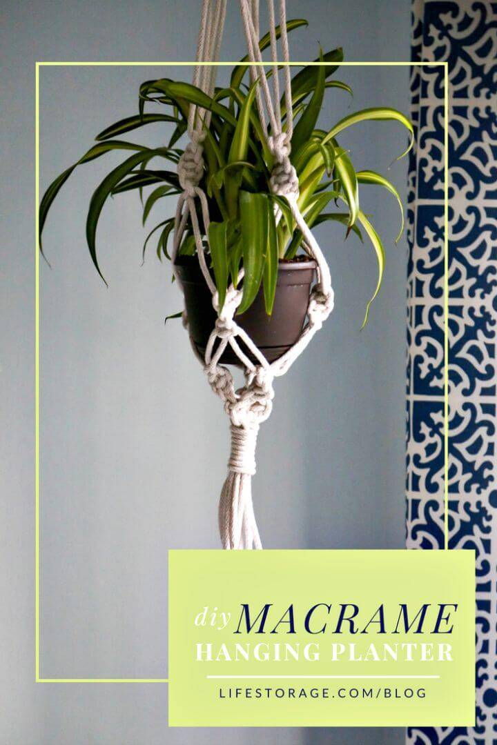 DIY Macrame Plant Holder By Using Bangle Bracelet