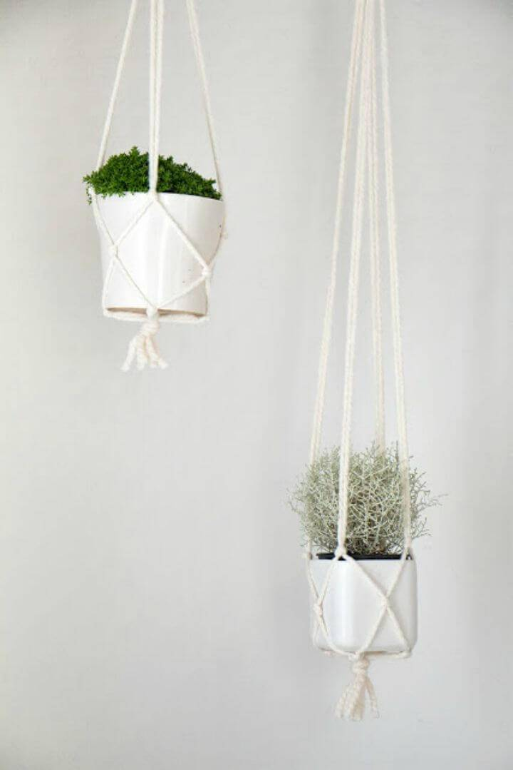 DIY Macrame Pot Hanger Tutorial